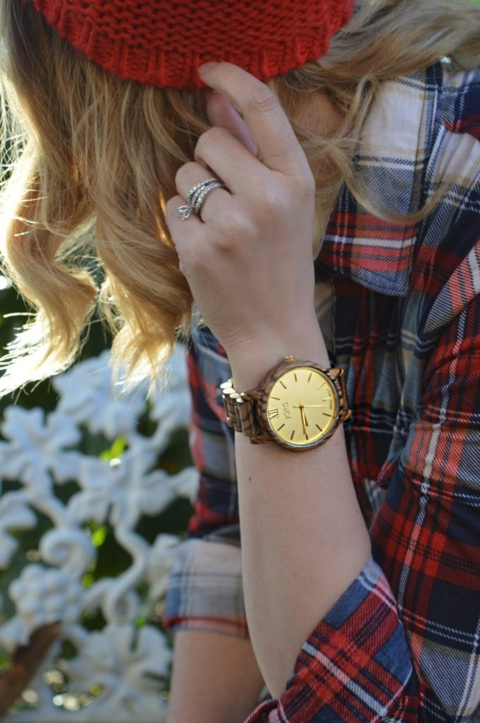 Flannel shirt gold watch Saskatchewan fashion blogger
