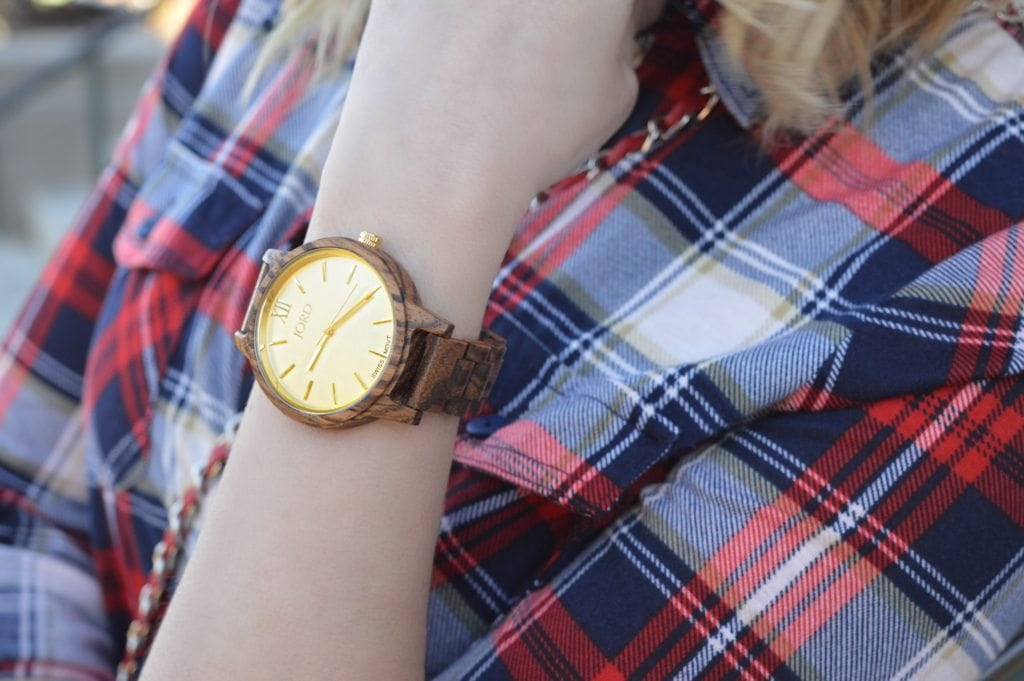 Gold Wood Watch makes a great gift